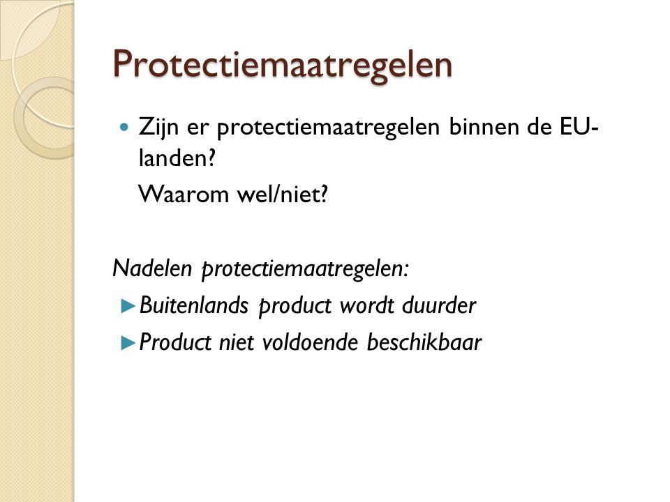 Protectiemaatregelen Zijn er protectiemaatregelen binnen de EU- landen.