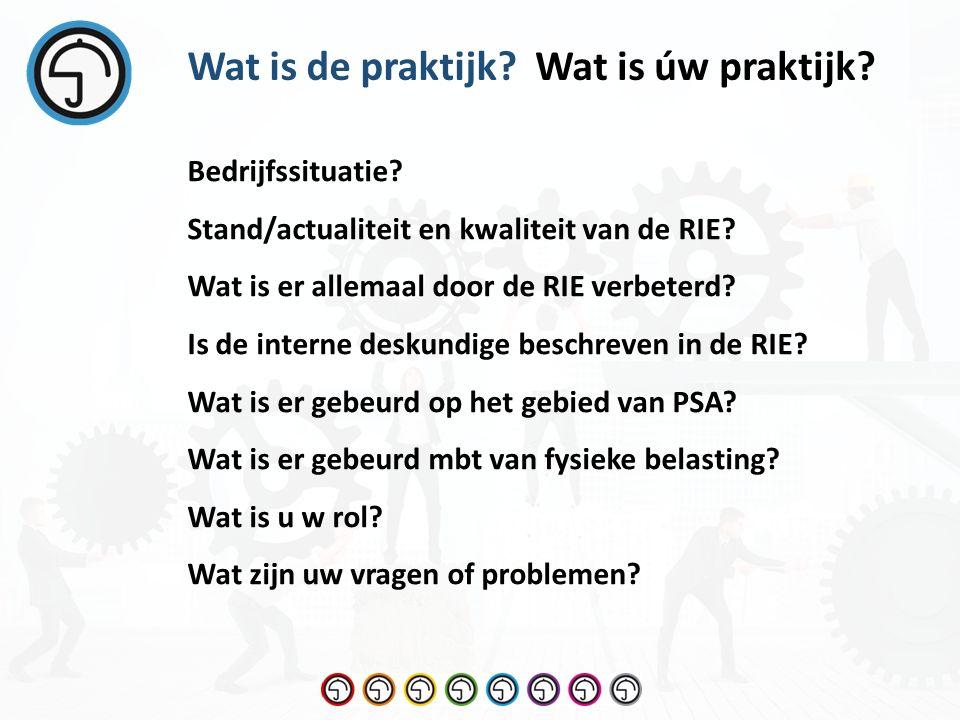 Wat is úw praktijk Wat is de praktijk. Bedrijfssituatie.