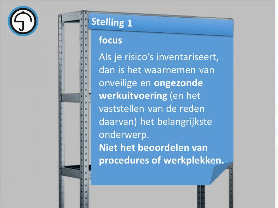 nvvk Gerard de Groot19 Als je risico's inventariseert, dan is het waarnemen van onveilige en ongezonde werkuitvoering (en het vaststellen van de reden daarvan) het belangrijkste onderwerp.