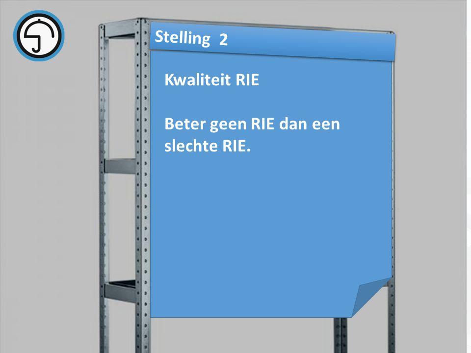 nvvk Gerard de Groot21 Kwaliteit RIE Stelling 2 Beter geen RIE dan een slechte RIE.