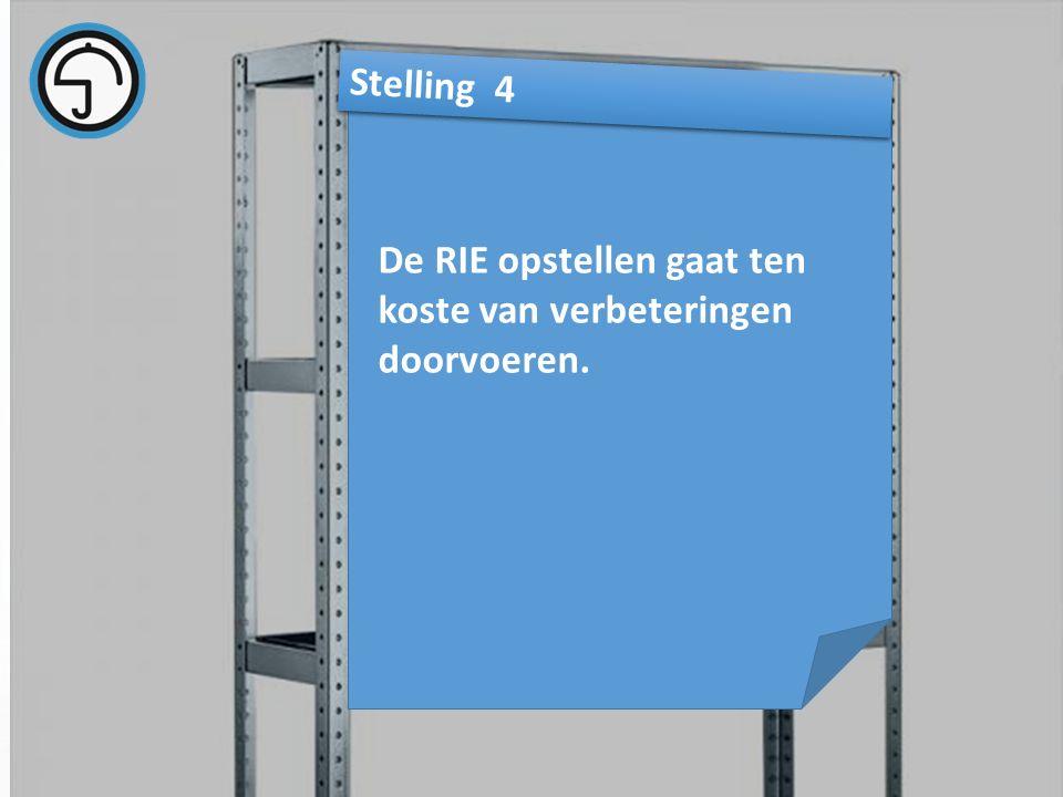 nvvk Gerard de Groot26 De RIE opstellen gaat ten koste van verbeteringen doorvoeren. Stelling 4