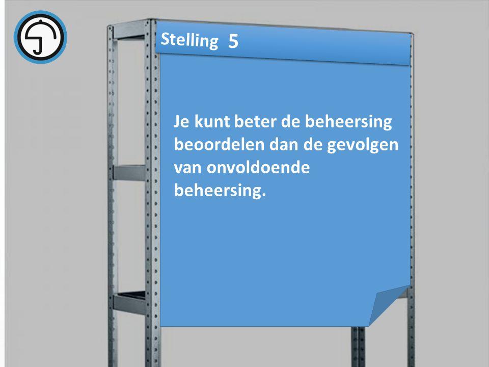 nvvk Gerard de Groot28 Je kunt beter de beheersing beoordelen dan de gevolgen van onvoldoende beheersing.
