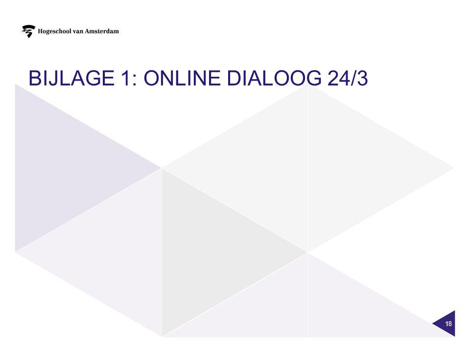 BIJLAGE 1: ONLINE DIALOOG 24/3 18