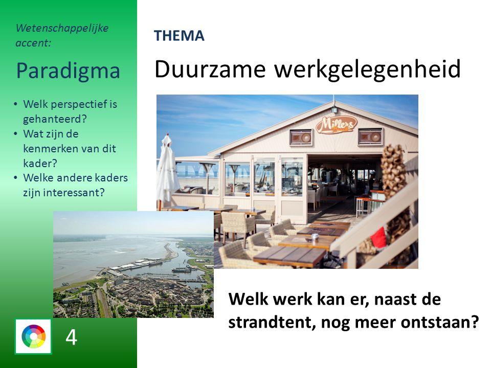 Duurzame werkgelegenheid Paradigma Welk werk kan er, naast de strandtent, nog meer ontstaan.