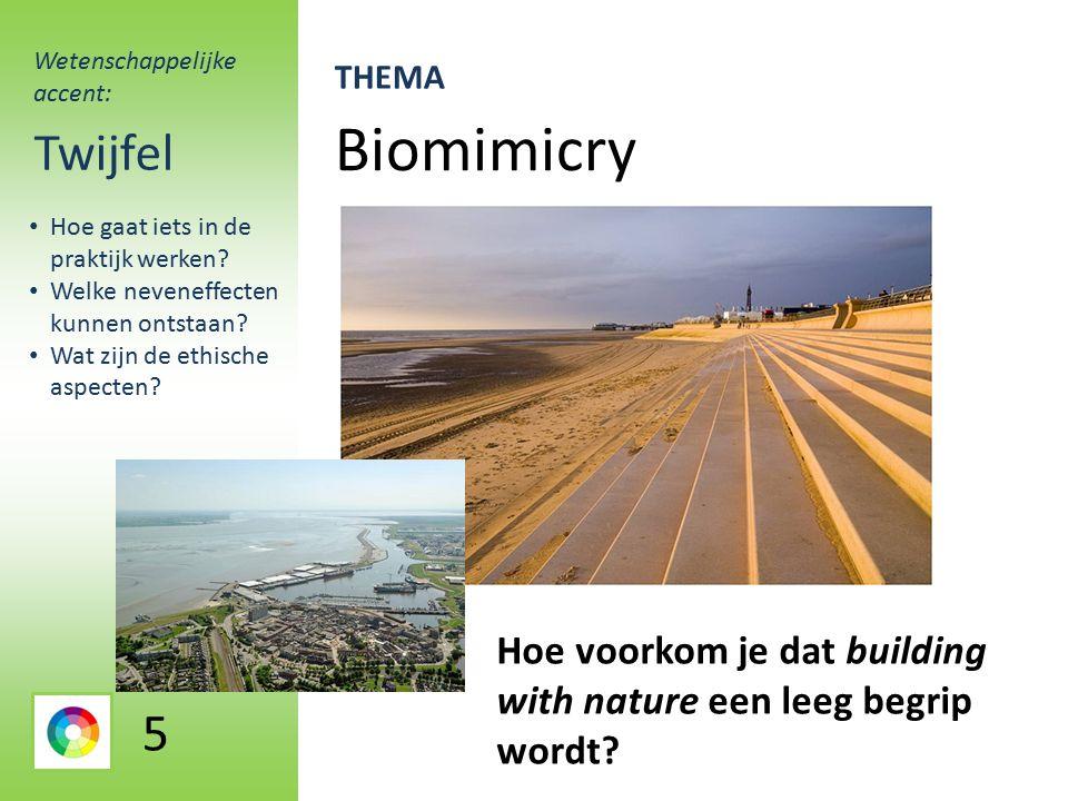 Biomimicry Twijfel Hoe voorkom je dat building with nature een leeg begrip wordt.