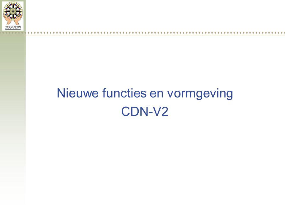 Nieuwe functies en vormgeving CDN-V2