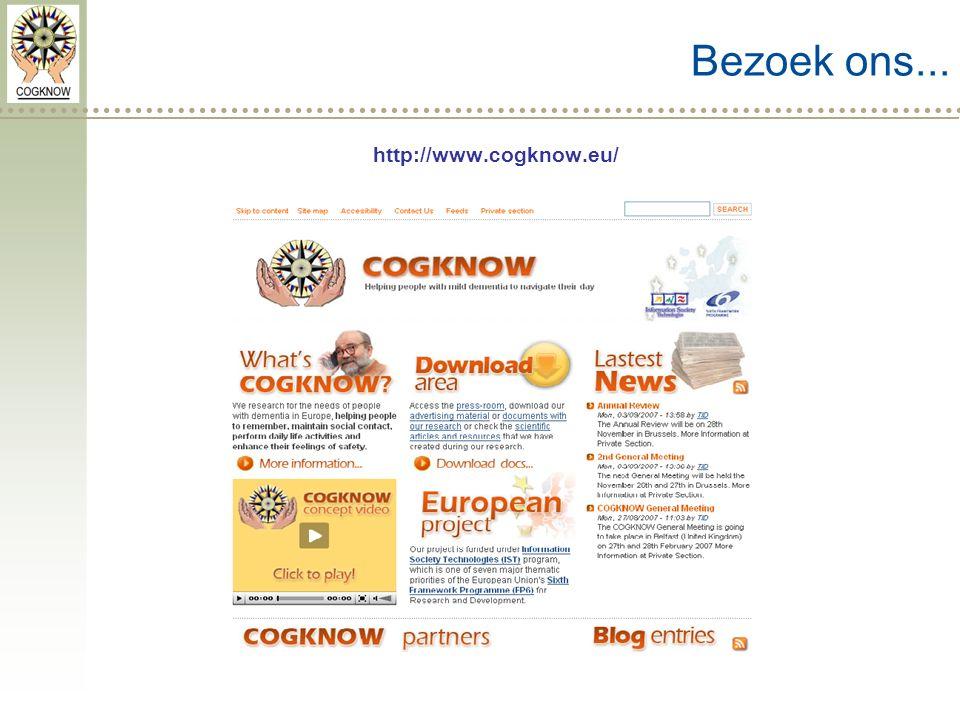 Bezoek ons... http://www.cogknow.eu/