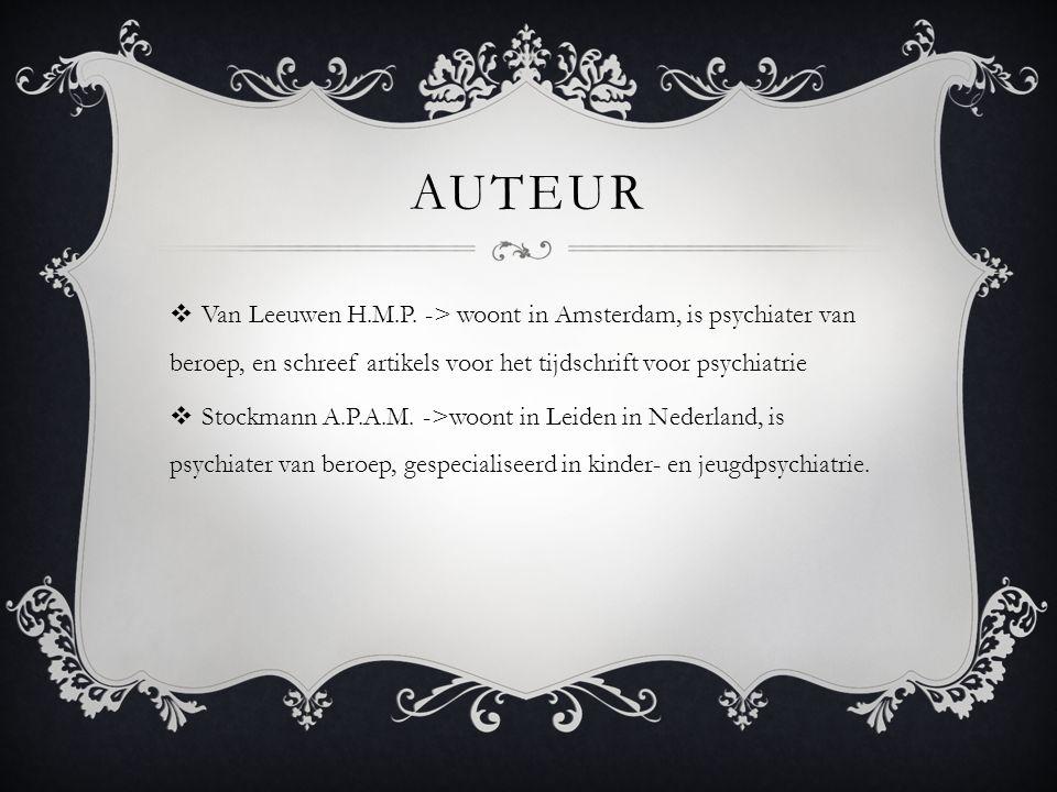 AUTEUR  Van Leeuwen H.M.P.