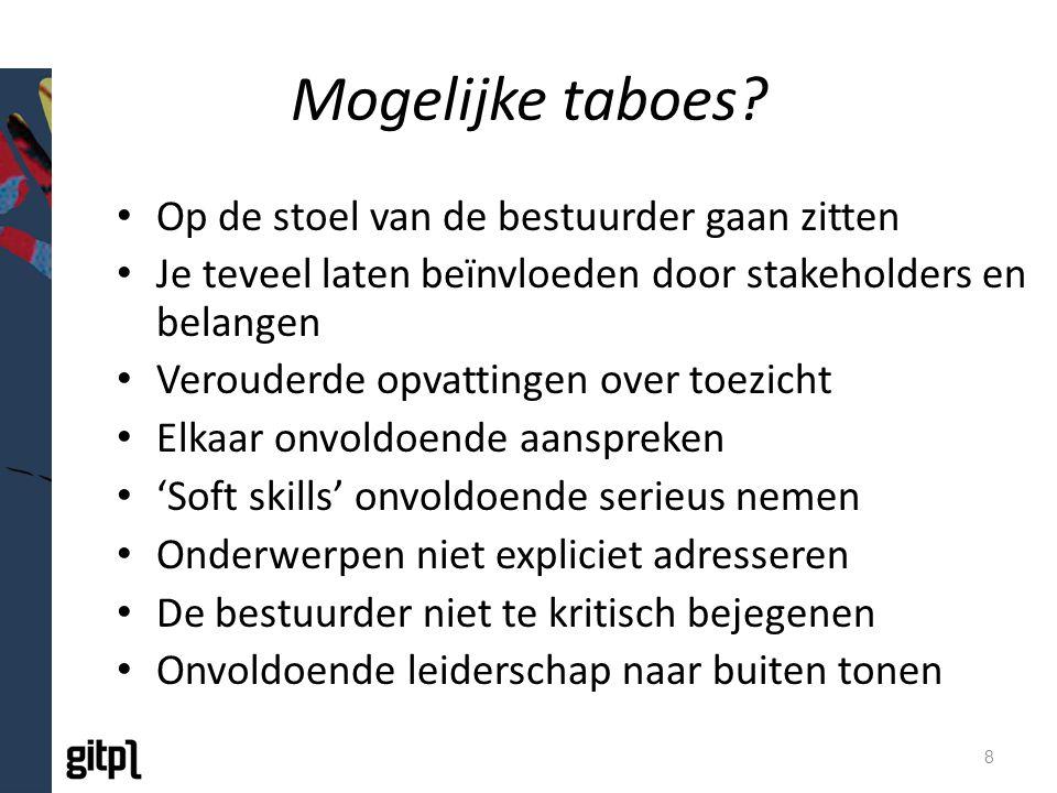 Mogelijke taboes.
