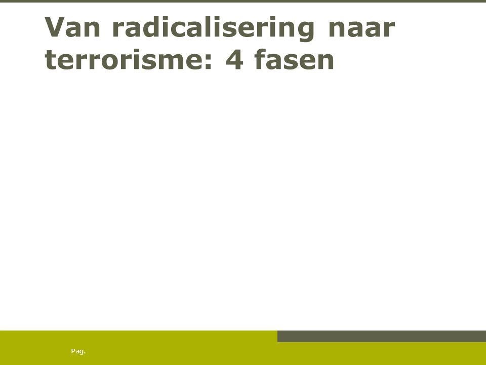 Pag. Van radicalisering naar terrorisme: 4 fasen