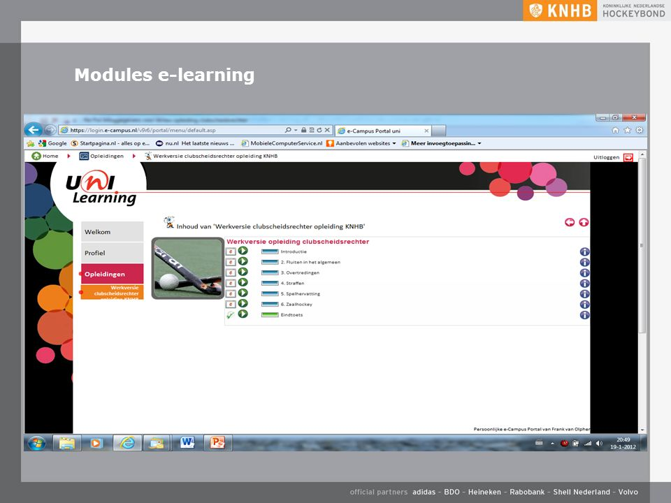 Modules e-learning