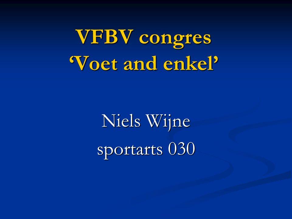 VFBV congres 'Voet and enkel' Niels Wijne sportarts 030