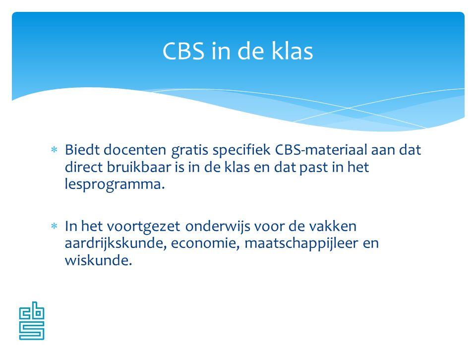  Biedt docenten gratis specifiek CBS-materiaal aan dat direct bruikbaar is in de klas en dat past in het lesprogramma.