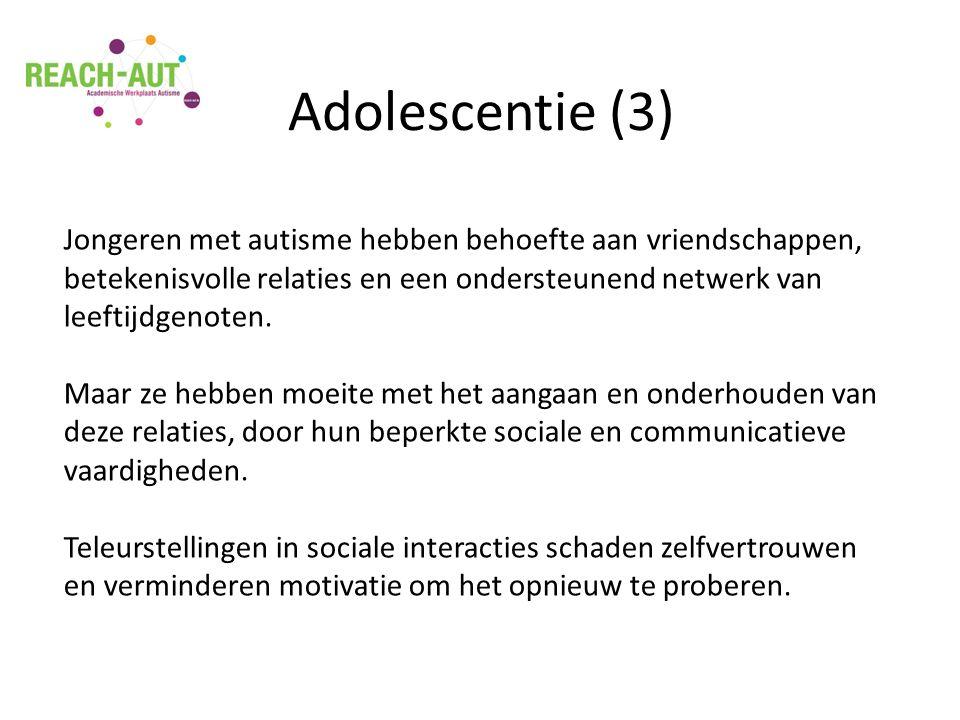 Jongeren met autisme hebben behoefte aan vriendschappen, betekenisvolle relaties en een ondersteunend netwerk van leeftijdgenoten.