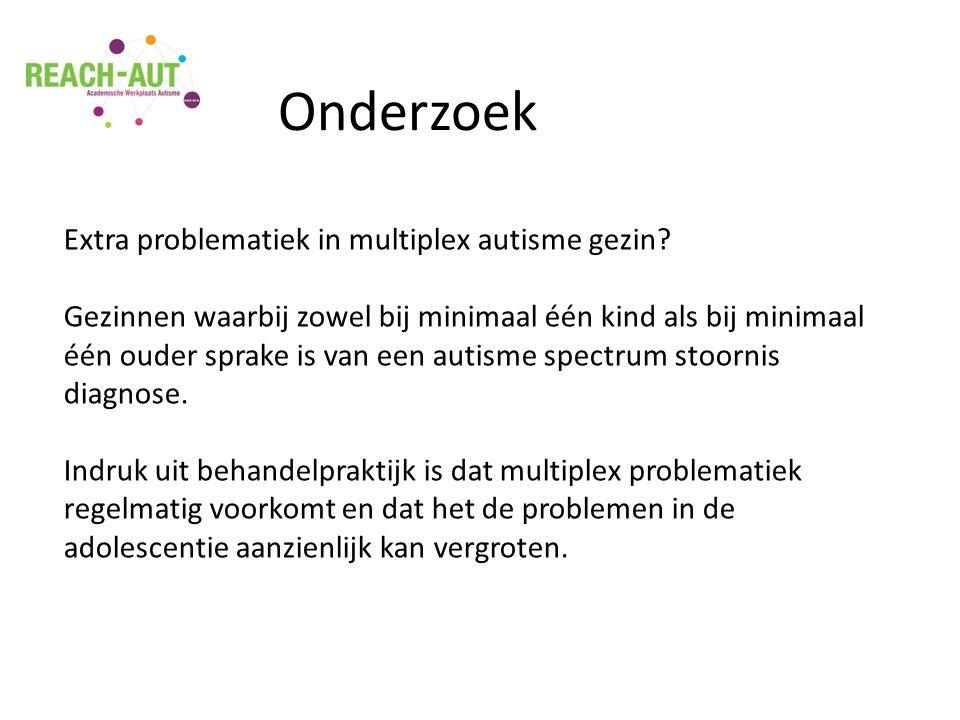 Extra problematiek in multiplex autisme gezin.