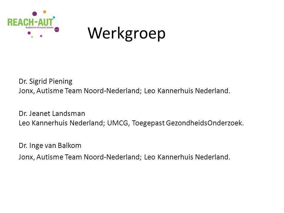 Dr. Sigrid Piening Jonx, Autisme Team Noord-Nederland; Leo Kannerhuis Nederland.
