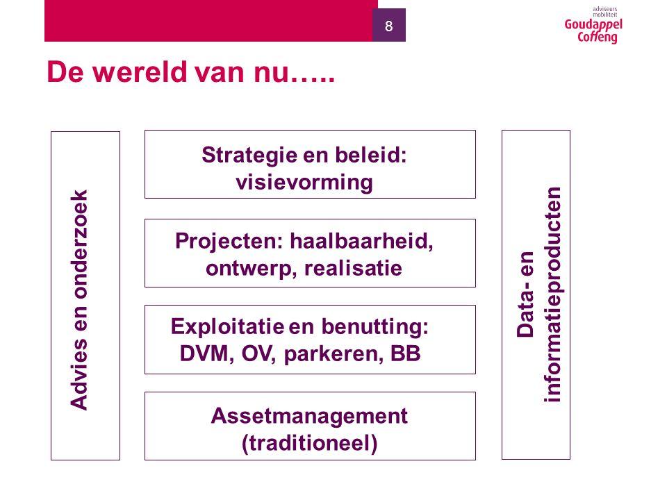 19 Onze visie Het nieuwe assetmanagement vraagt om het integraal beschouwen van infrastructuur vanuit netwerkontwikkeling, benutting en instandhouding.