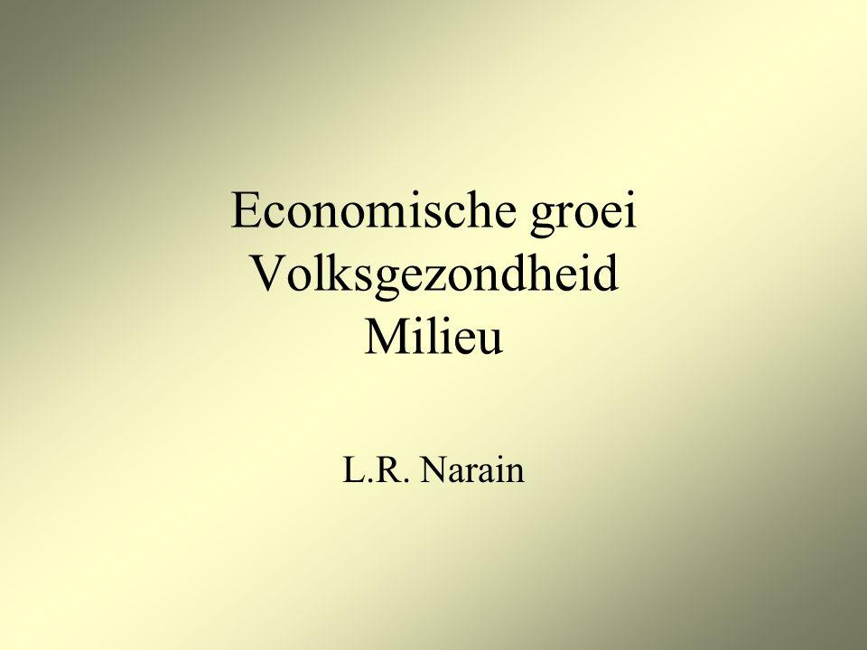 Economische groei Volksgezondheid Milieu L.R. Narain