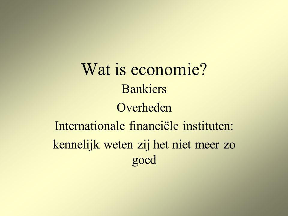 Wat is economie.