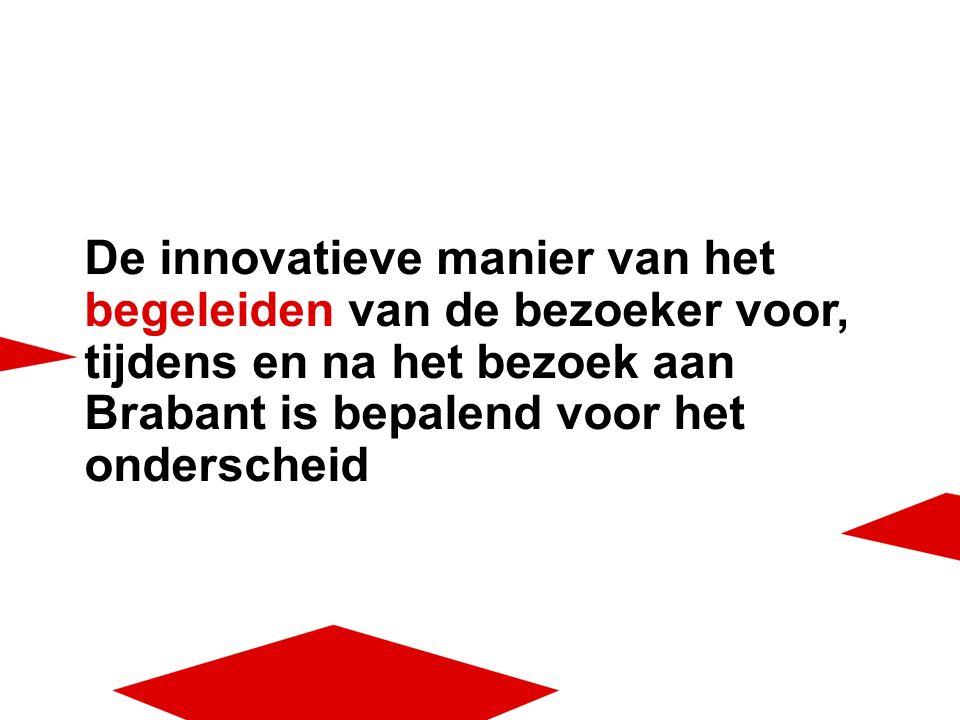 De innovatieve manier van het begeleiden van de bezoeker voor, tijdens en na het bezoek aan Brabant is bepalend voor het onderscheid