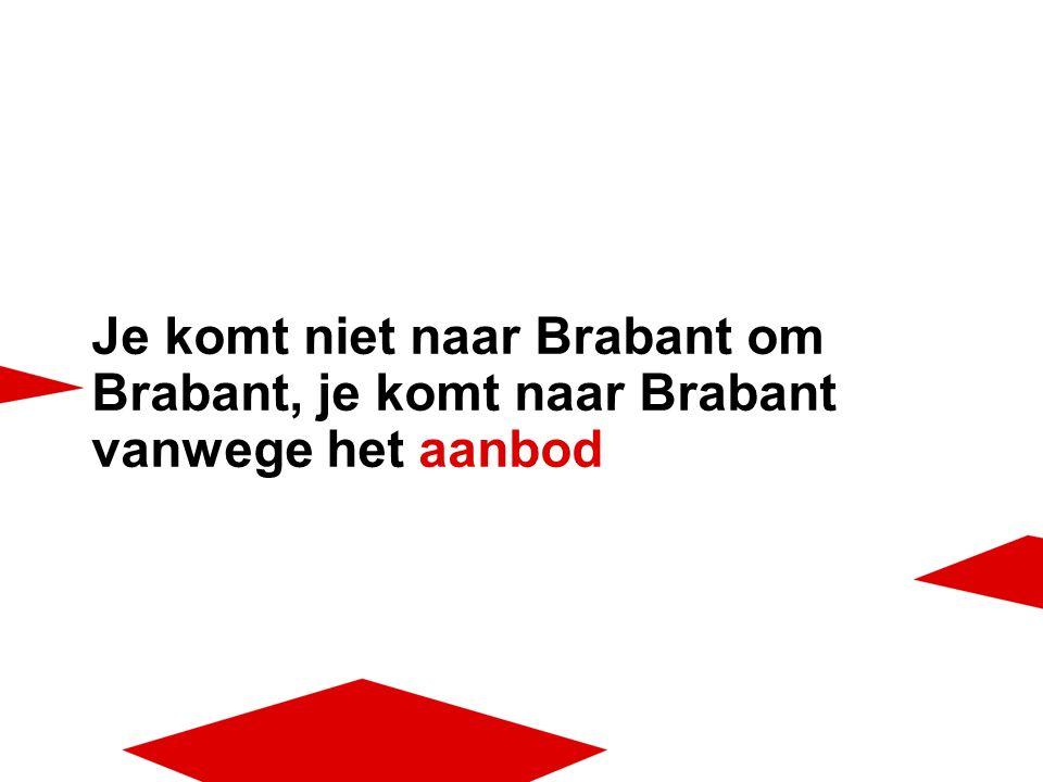 Je komt niet naar Brabant om Brabant, je komt naar Brabant vanwege het aanbod