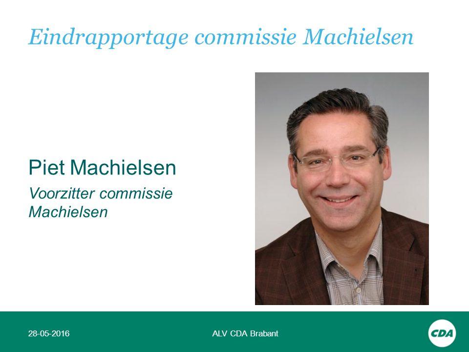 Piet Machielsen Voorzitter commissie Machielsen 28-05-2016ALV CDA Brabant Eindrapportage commissie Machielsen