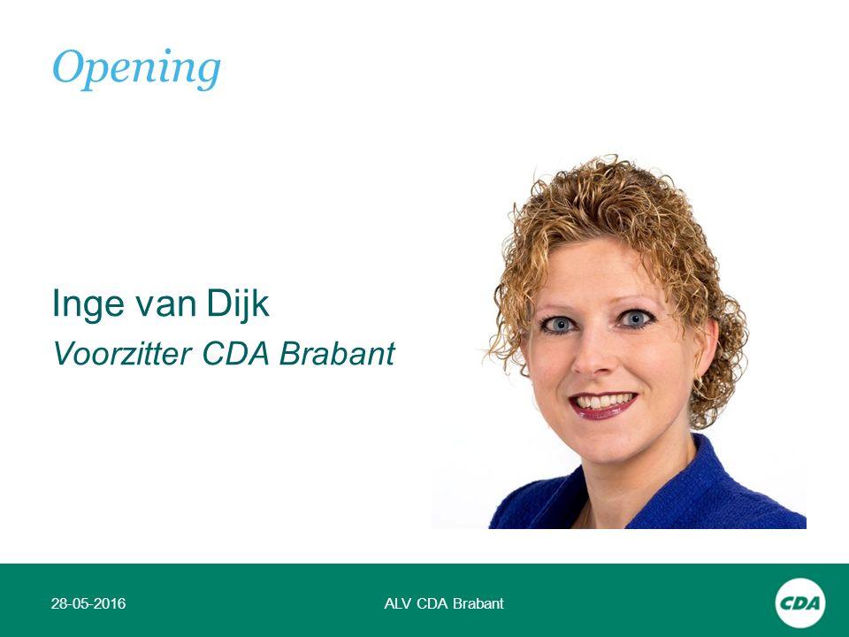 Inge van Dijk Voorzitter CDA Brabant 28-05-2016ALV CDA Brabant Opening