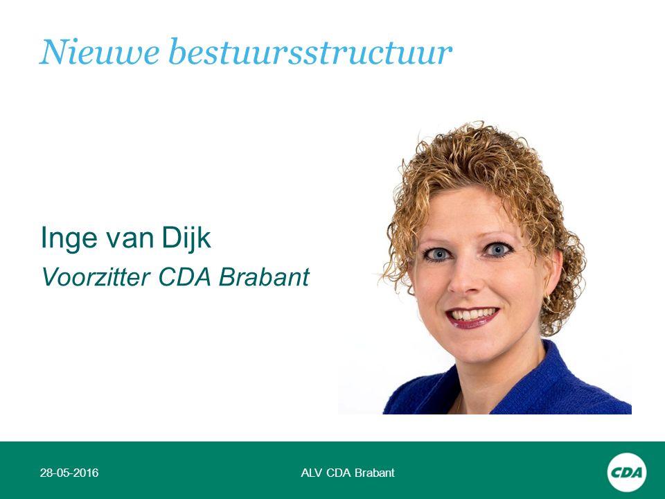 Inge van Dijk Voorzitter CDA Brabant 28-05-2016ALV CDA Brabant Nieuwe bestuursstructuur