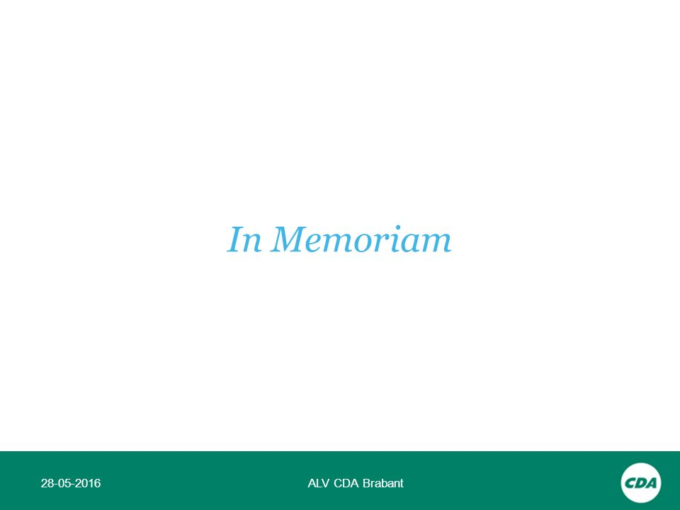 28-05-2016ALV CDA Brabant In Memoriam