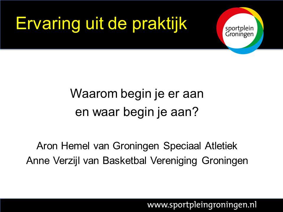 Sportplein Groningen De plaats waar nieuwe samenwerking ontstaat ter verbetering van de top- en breedtesport in Groningen www.sportpleingroningen.nl @SportpleinGr