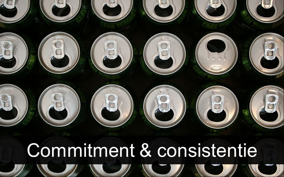 Commitment & consistentie