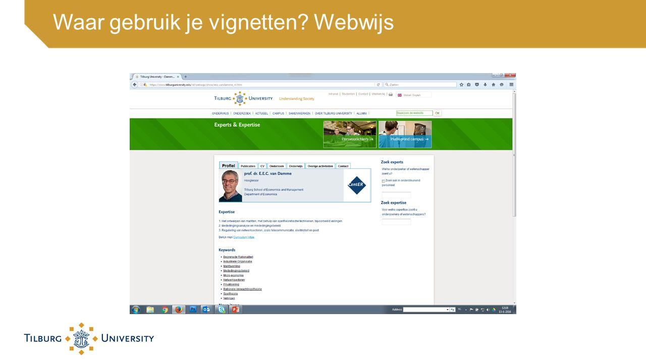 Waar gebruik je vignetten? Webwijs