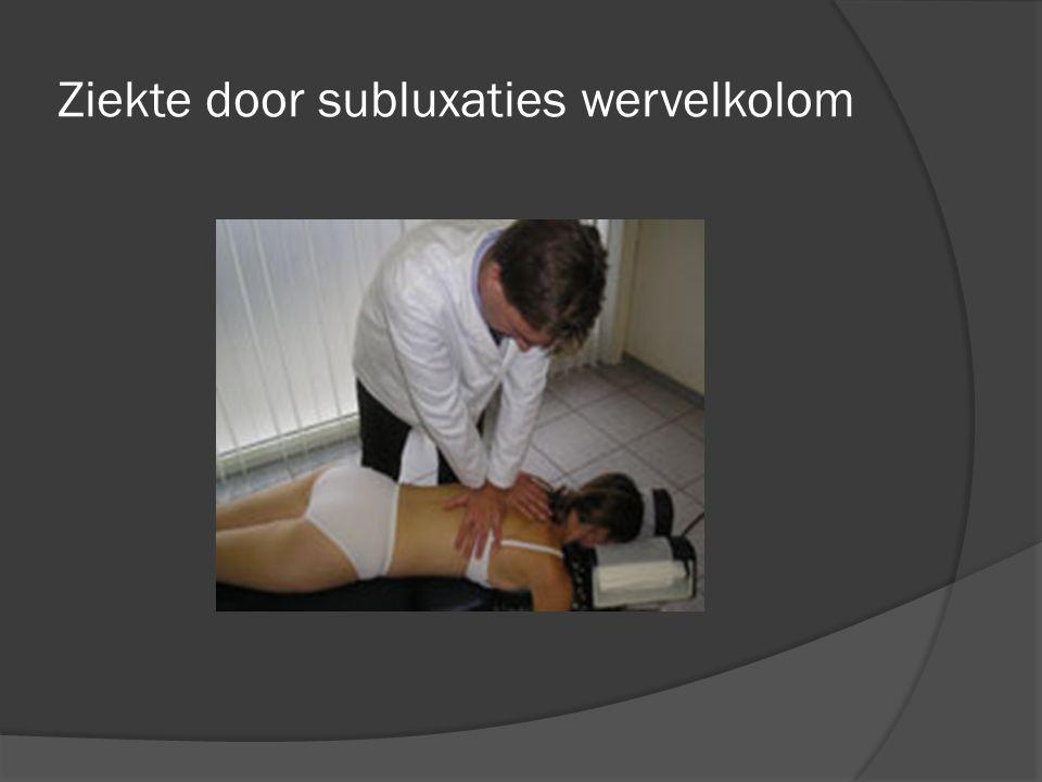 Ziekte door subluxaties wervelkolom