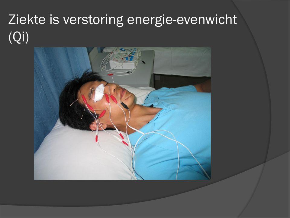 Ziekte is verstoring energie-evenwicht (Qi)