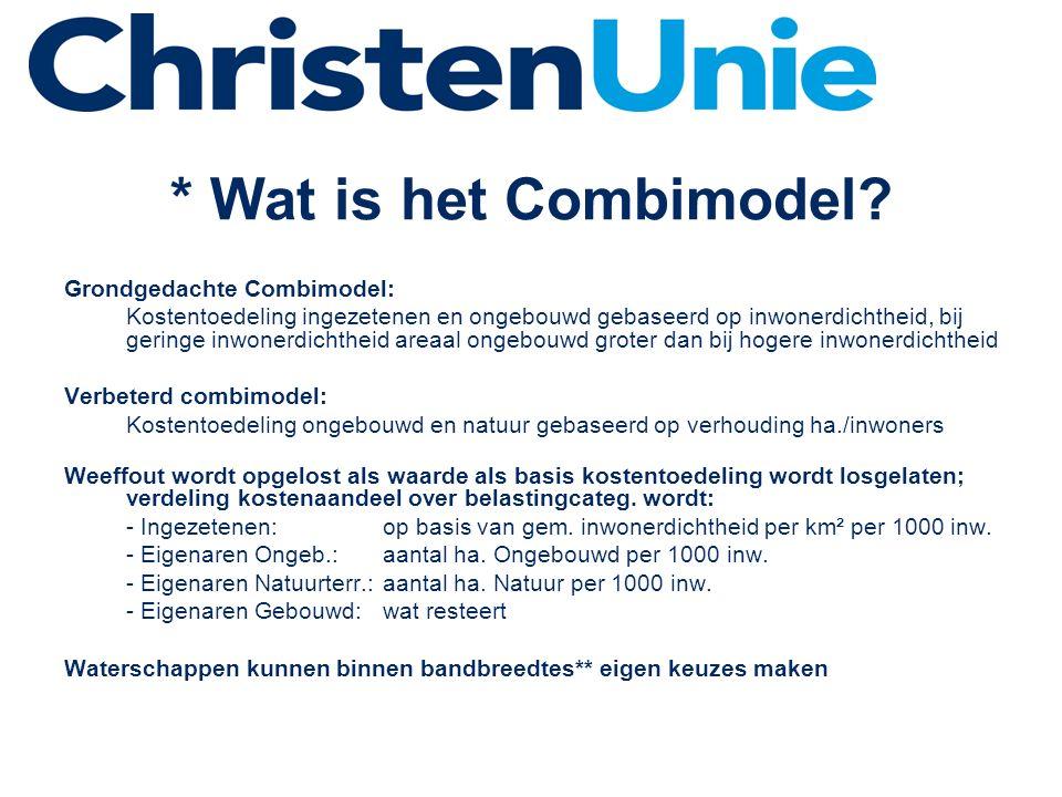 * Wat is het Combimodel.
