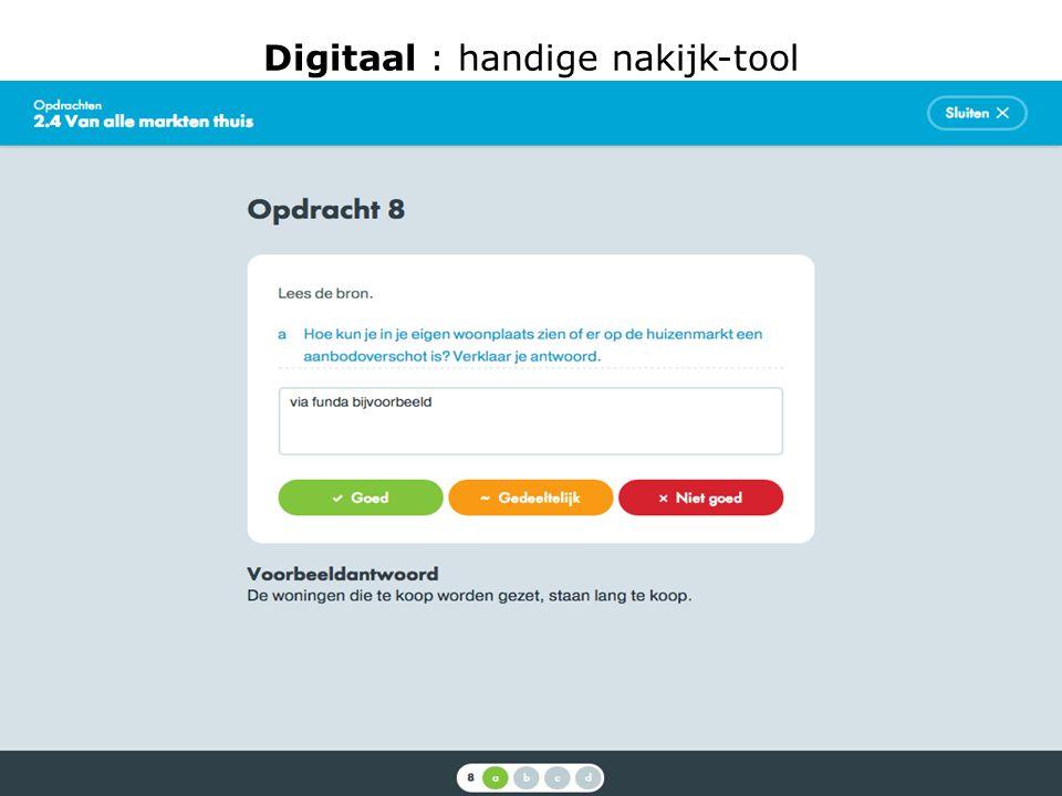 Digitaal : handige nakijk-tool