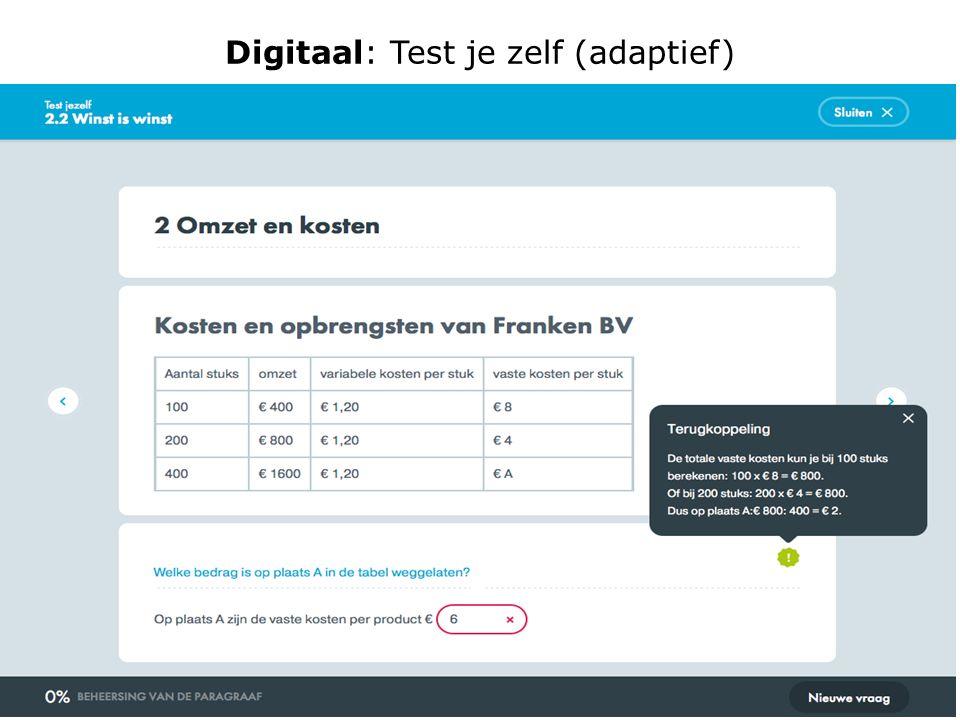 Digitaal: Test je zelf (adaptief)