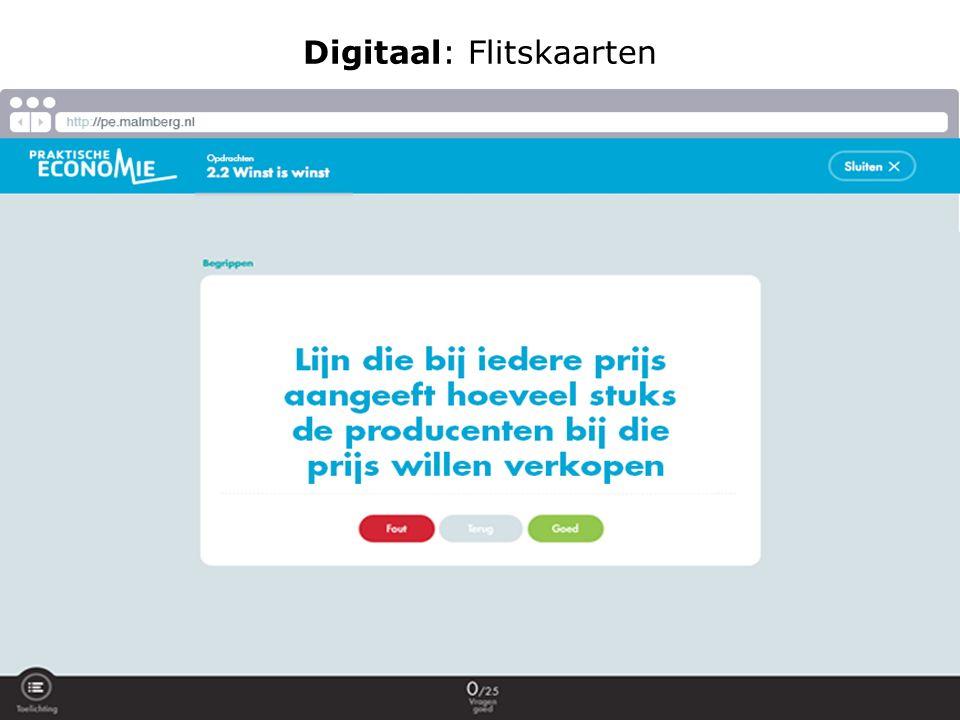 Digitaal: Flitskaarten