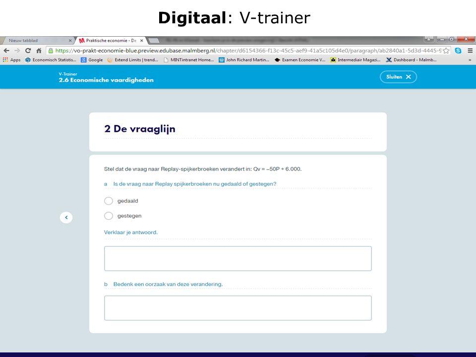 Digitaal: V-trainer