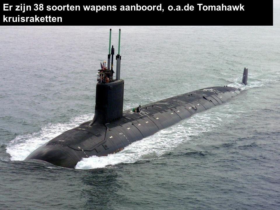 De nucleaire Virginia is bijna 115 meter lang en weegt 7.800 ton. 3. 'Virginia Class' onderzeeër