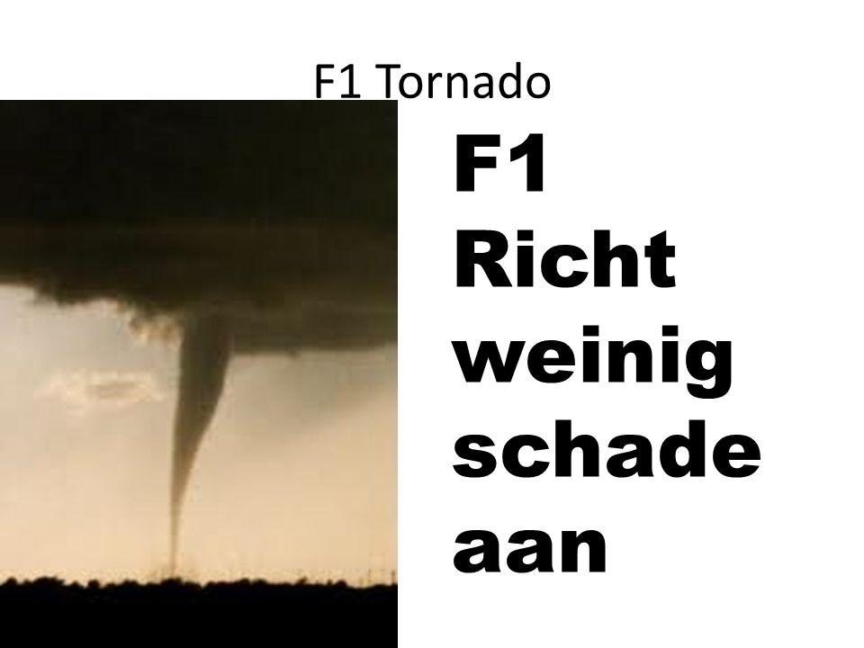 F1 Tornado F1 Richt weinig schade aan