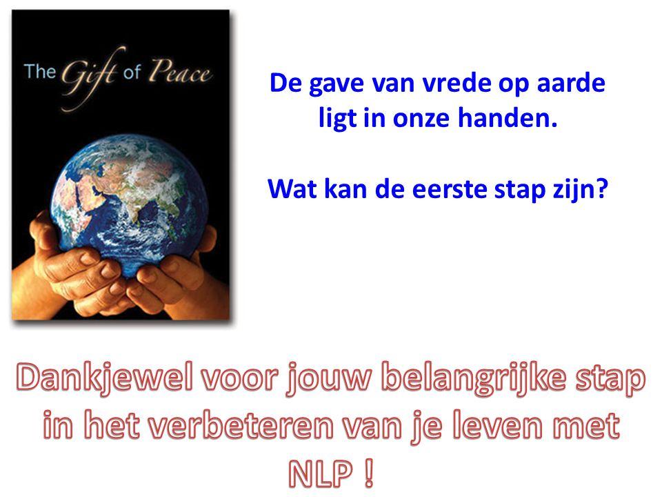De gave van vrede op aarde ligt in onze handen. Wat kan de eerste stap zijn?