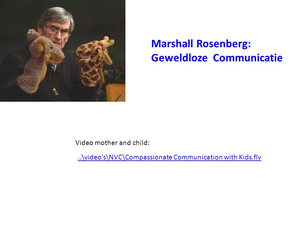 Video mother and child:..\video's\NVC\Compassionate Communication with Kids.flv Marshall Rosenberg: Geweldloze Communicatie