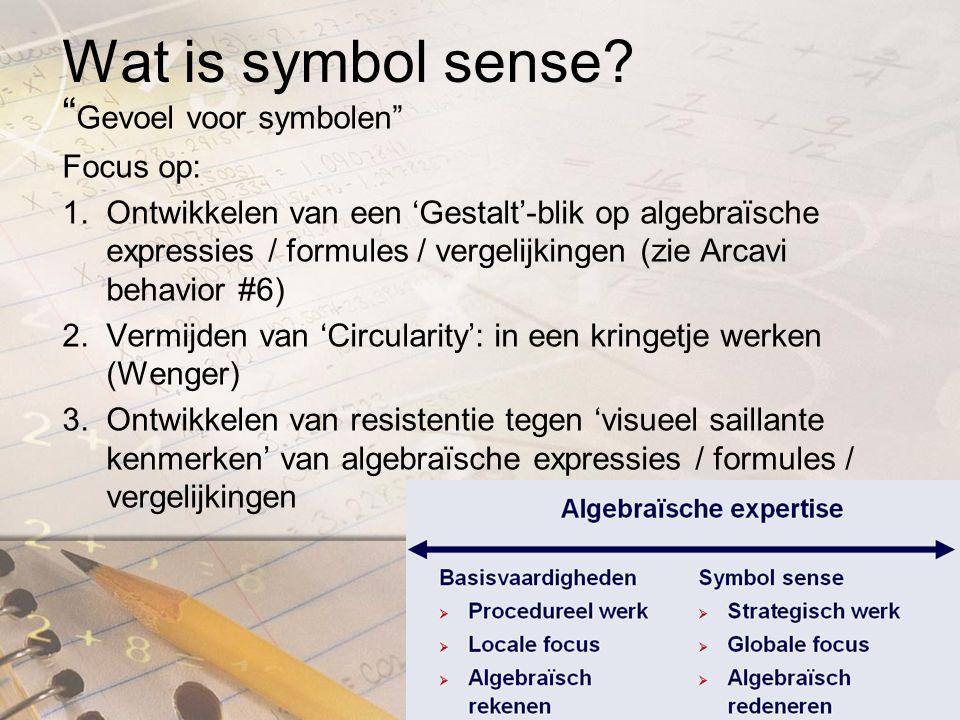 Wat is symbol sense.