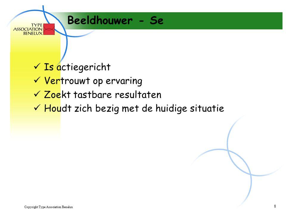Copyright Type Association Benelux 9 Onderzoeker - Ne Zoekt nieuwere en betere manieren om iets te doen Bekijkt onontgonnen wegen Experimenteren graag Houdt van verandering