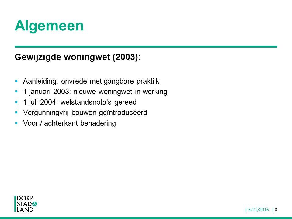 Algemeen Gewijzigde woningwet (2003):  Aanleiding: onvrede met gangbare praktijk  1 januari 2003: nieuwe woningwet in werking  1 juli 2004: welstan