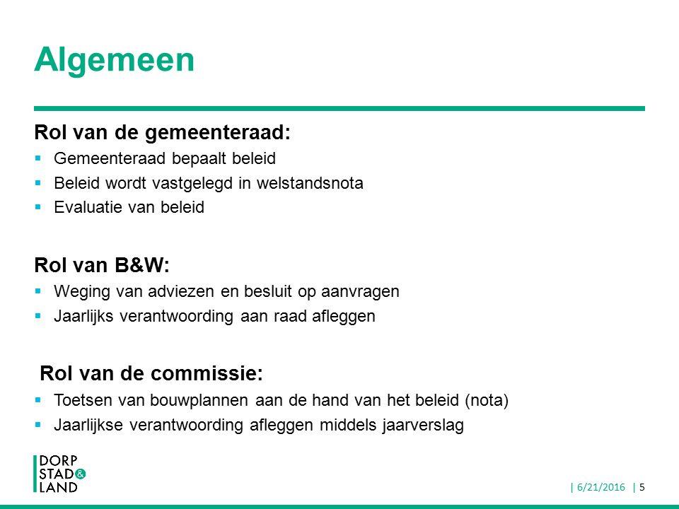 Algemeen Rol van de gemeenteraad:  Gemeenteraad bepaalt beleid  Beleid wordt vastgelegd in welstandsnota  Evaluatie van beleid Rol van B&W:  Wegin
