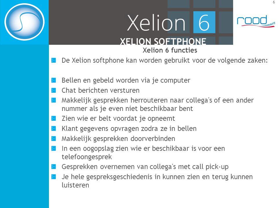 7 XELION SOFTPHONE 1Gebruikers informatie en status 2Xelion tabs 3De gepatenteerde startbar 4Werkblad 5Favorieten