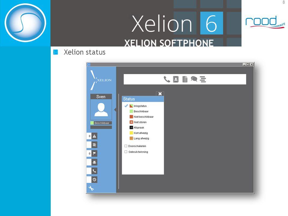 8 XELION SOFTPHONE Xelion status
