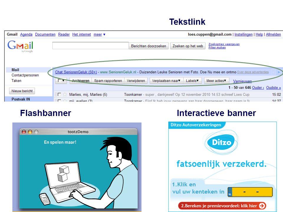Tekstlink Interactieve bannerFlashbanner